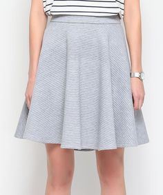 Loving this Gray Flare Skirt on #zulily! #zulilyfinds