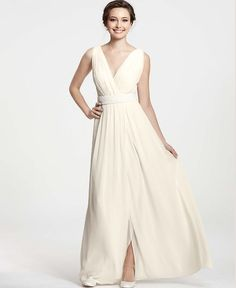 Ann Taylor Collection. Perfect for Second Wedding Dresses. | I Do Take Two #weddingdress #secondweddingdress
