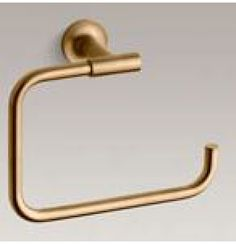 Kohler Purist Towel Ring In Brushed Gold