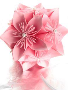 Pink Kusudama Ball Hanging Japanese Origami