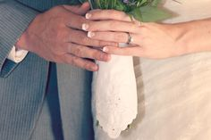 perhaps a family handkerchief wrapped around the bride's bouquet - thereddirtbride.com - see more of this wedding here Bride Bouquets, Rustic Wedding, Wedding Rings, Vintage, Ideas, Bridal Bouquets, Thoughts, Wedding Ring, Wedding Bands