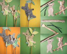 Koala Craft - Christmas Around the World Australia Crafts, Australia Day, Visit Australia, Snowflakes For Kids, Koala Craft, Diorama Kids, Christmas In Australia, Australia Animals, World Crafts