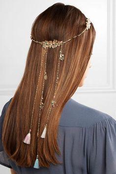 Rosantica - Blanca Gold-tone, Quartz And Tinsel Headband - One size