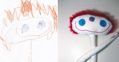 Children's drawings come to life as delightfully weird toys