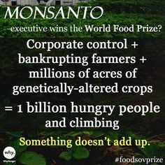 "What a surprise! Among this year's winners of the international World Food Prize, which claims to recognize the achievements of individuals who have ""advanced human development,"" is none other than a Monsanto executive. http://www.naturalnews.com/041022_Monsanto_World_Food_Prize_GMOs.html"