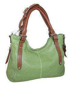 Nino Bossi Handbags Leaf Zip in My Side Leather Satchel | zulily