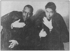 Jimmy Thompson (left) with Jelly Roll Morton c. Ferdinand, Jelly Roll Morton, Jazz Artists, European American, Jelly Rolls, All That Jazz, Jesse James, Jazz Age, Cairo