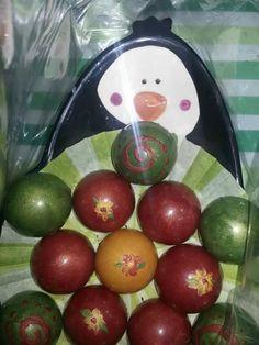 Pingü con esferas de chocolate