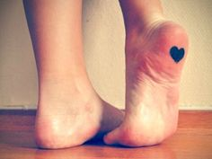 tattoo ...wonder how painful it would be considering your heel skin is really thick
