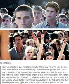 Does anyone else see peeta right behind gale in the top picture?>never mind. Just watched the movie again. It's not peeta Hunger Games Memes, Hunger Games Fandom, Hunger Games Catching Fire, Hunger Games Trilogy, Percy Jackson, Team Gale, Tribute Von Panem, Jandy Nelson, I Volunteer As Tribute
