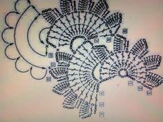 Tejidos Kangél: bufanda con medias flores.