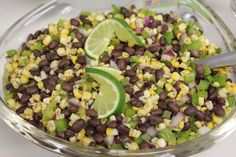 Fire roasted corn and black bean salad