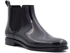 MaxMuxun Black Waterproof Slip On Short Ankle Rain Boots For Women Size 7 $30.99