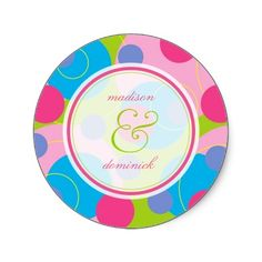 Retro Candy Dots Thank You / Seal / Gift Sticker