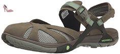 Merrell - Azura Wrap - Sandale de sport et de plein air - Femme - Vert (Medium Green) - 37 EU - Chaussures merrell (*Partner-Link)