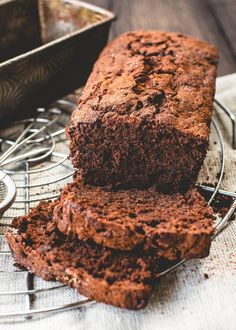 I think a quick bread with two kinds of chocolate and hidden veggies doesn't require much coercion to make
