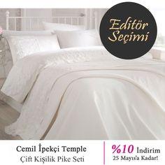 Editörümüz Seçti '' Cemil Ipekçi Temple ''  şık tasarımı ve %10 indirimi ile ürünümüz sitemizde sizi bekliyor☺️ #vitrinsokagi #vitrineditör #ev #tekstil #pike #takım #vitrinsokağı