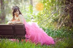 Quinceanera with pink dress