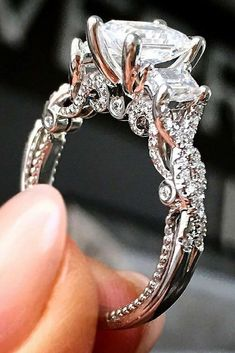 42 Most Popular And Trendy Engagement Rings For Women ❤️ engagement rings for women unique white gold engagement ring ❤️ See more: http://www.weddingforward.com/engagement-rings-for-women/ #weddingforward #wedding #bride #engagementrings
