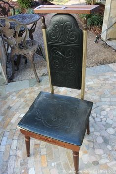 A Men's Valet Stand Becomes a Pretty Stool for Her