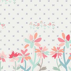 Amy Sinibaldi - Paperie - Gathering Blooms Border in White
