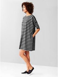 Stripe relaxed t-shirt dress | Gap. Current favorite dress (pockets!).