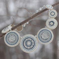 Necklaces, handmade beads.  Fair Masters - handmade.  Buy Necklace (0333).  Handmade.  Gray, beads, natural stone