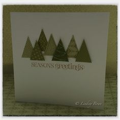 Stampin up pennant parade.  Quick and simple winter or Christmas card.