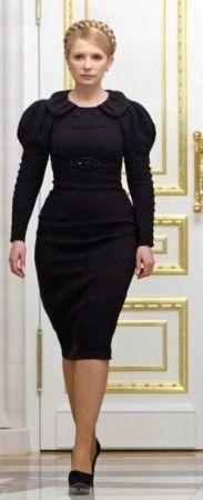 Yulia Tymoshenko black dress