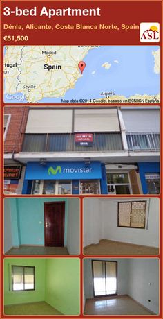 3-bed Apartment in Dénia, Alicante, Costa Blanca Norte, Spain ►€51,500 #PropertyForSaleInSpain