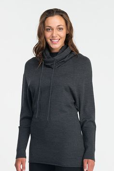Icebreaker Athena Long Sleeve Funnel: This  merino wool cowl ($200) from Icebreaker has my name all over it. Cozy, comfortable, and stylish, I would wear this in and of yoga classes all Winter long. And with the long funnel neck, I wouldn't need to bother with a scarf.  — Susi May, fitness director