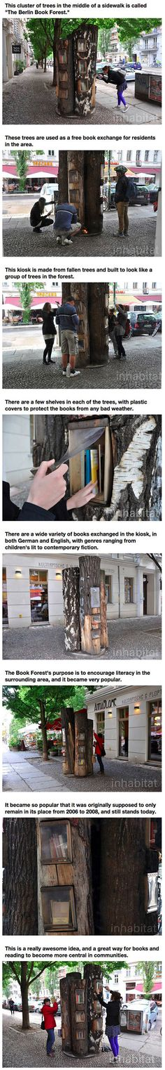I left some books in this tree last summer.  I registered them on Bookcrossing, but no one has yet logged them:(  I was hoping to track them around the globe.   It's such a neat idea!
