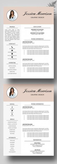 Resume Template, CV, Google Docs Pinterest Professional resume