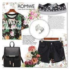 """ROMWE 10"" by mini-kitty ❤ liked on Polyvore featuring Vans, Balmain and romwe"