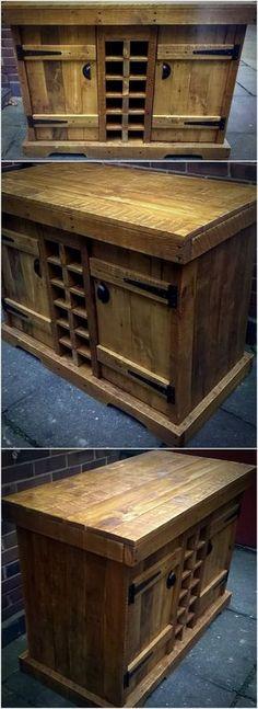Wood Pallet Wine Storage