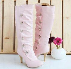 Sweet Girl Stiletto Heel Platform Knee High