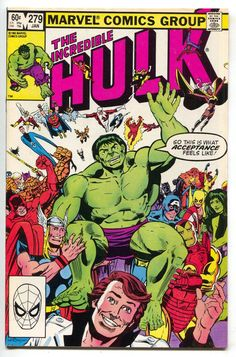 Incredible Hulk 279 Marvel NM- Avengers X-Men Thor Captain America Spider-Man