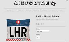 Travel Product of the Week: Airport Throw Pillows