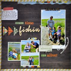 First Time Fishin' ~NEW Simple Stories~ - Scrapbook.com