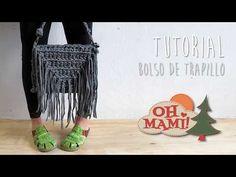 Bolso de trapillo con flecos a crochet ( Crochet bag) - YouTube