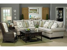 Paula Deen By Craftmaster Living Room Sectional P7117bd Sect White Sofacouchesliving