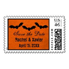 Trio of Bats Halloween Save the Date Postage
