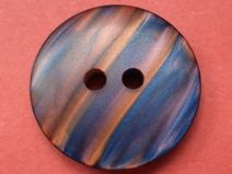 6 Knöpfe blau braun 18mm (4863) Jackenknöpfe Knopf