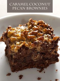Caramel Coconut Pecan Brownies – Now this is a recipe that looks irresistible and tastes sinfully amazing. You'll never go back to any other brownie recipe after trying this one!
