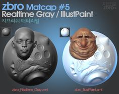 daily sculpt & WIP: ZBrush Custom Matcap #5