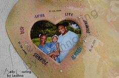 Beautiful heart cut out with a portait of the kids as seen on Nkechi's belly cast. The kids names are hand painted along with their respective date of birth and the meaning of their name. Done by :Belly Casting by Leanna Located: Trinidad and Tobago. Belly Casting, Heart Cut Out, Kid Names, Trinidad And Tobago, Birth, Random Stuff, It Cast, Hand Painted, Babies