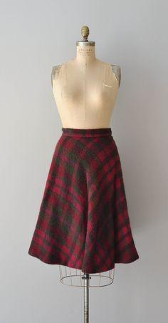 Klingendahl skirt / wool 1950s plaid skirt / plaid by DearGolden