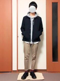 いつも見ていただきありがとうございます(^^) コーチジャケットコーデです! How To Wear