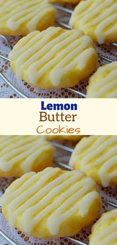Ingredients: For the Cookies: 1 cup & 2 tablespoons All-Purpose Flour cup Sugar 1 tablespoon Lemon Zest, finely grated 7 tablespoons Unsalted Butter, cut into cubes 1 Egg Yolk For the Glaze: 1 cup Powdered Sugar 3 tablespoons Lemon Juice, fresh Lemon Recipes, Sweet Recipes, Baking Recipes, Cookie Recipes, Cookie Ideas, Baking Ideas, Lemon Cookies, Yummy Cookies, Lemon Butter Cookies Recipe