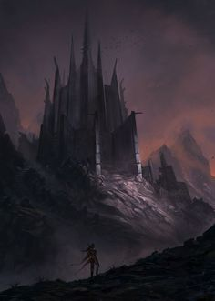 The Old, Dark, Haunted Castle - by Jorge Jacinto. Dark Fantasy, Fantasy City, Fantasy Castle, Fantasy Places, Medieval Fantasy, Sci Fi Fantasy, Fantasy World, Dark Castle, Throne Of Glass Series